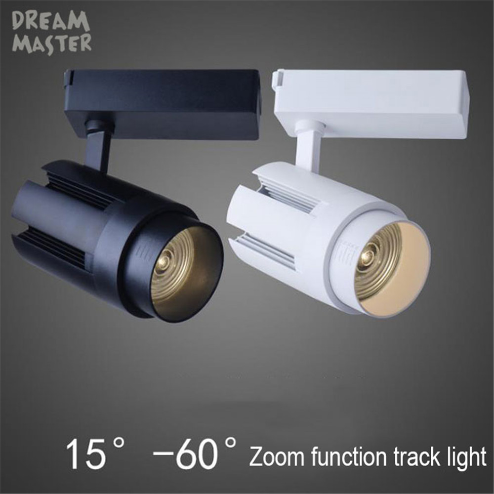 ZOOM LED Track Light 30W 35W COB Rail lights Track Lighting For Pendant Kitchen Clothes Shoes Shop Store Lamps Indoor Lights