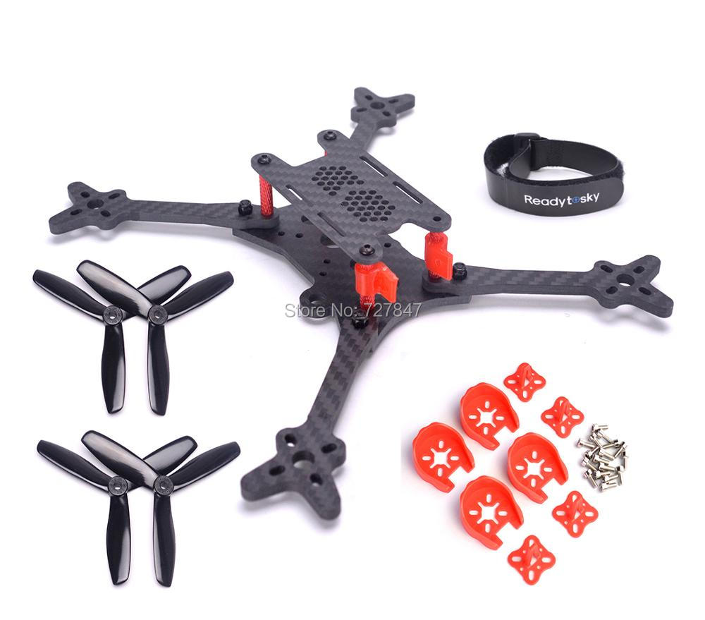 FLOSS 2 215 215mm FPV Carbon fiber Quadcopter frame 5 inch with 4mm arm + 5045 Propeller for FPV Racing drone Quadcopter diy fpv mini drone qav210 zmr210 race quadcopter full carbon frame kit naze32 emax 2204ii kv2300 motor bl12a esc run with 4s