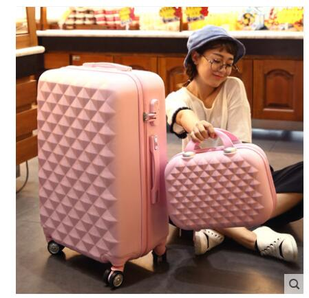 Rolling Luggage case women travel luggage suitcase Trolley Baggage Suitcase 20 inch 24 inch 26 inch suitcase boarding wheel Case direct factory price of a box slides 50 with microscope cover glass 100 frosted edge