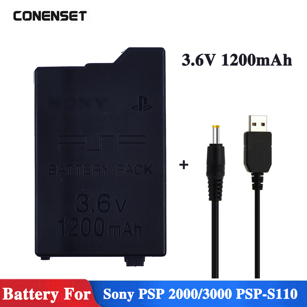 1200 mAh 3.6 V remplacement PSP batterie pour Sony PSP2000 PSP3000 PSP S110 Gamepad pour PlayStation Portable contrôleur Batteries