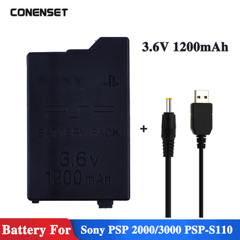 1200mAh 3.6V Replacement PSP Battery For Sony PSP2000 PSP3000 PSP S110 Gamepad For PlayStation Portable Controller Batteries