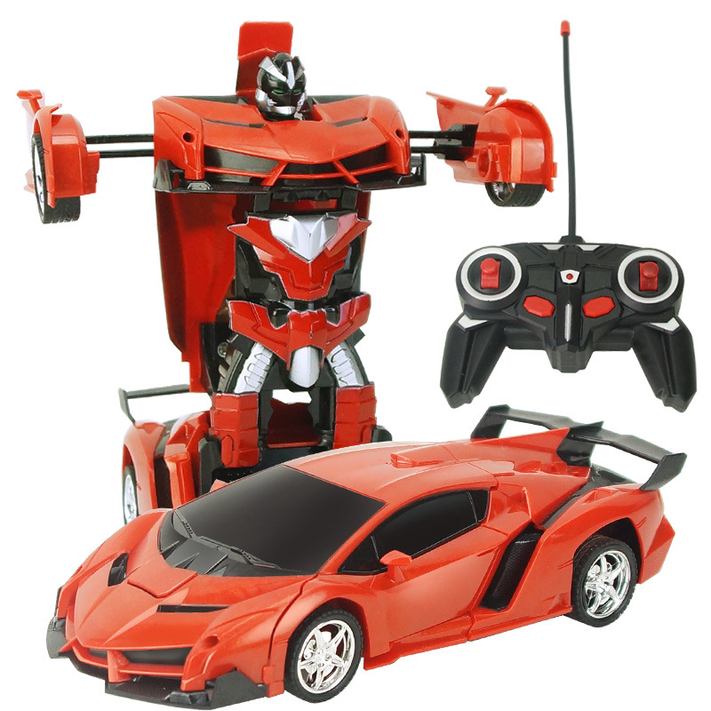 New 2.4G RC Cars Transformation Robot Car Toy Light Dance Electric Car Models Action Toys for Children Gift
