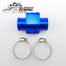 Tuning Monster High Quality Blue Water Temp Joint Pipe Sensor Gauge Radiator Hose Adapter 32mm With Logo