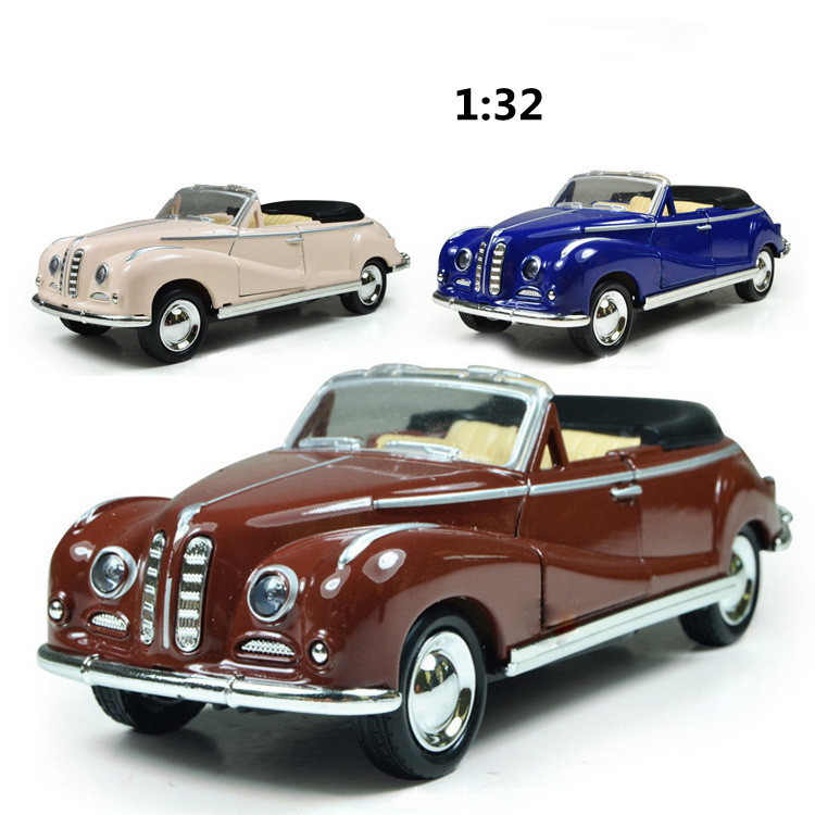<font><b>1:32</b></font> Classical Die Casting Simulation Open-top Retro-vintage Vehicle Toy Return Alloy Vehicle <font><b>Model</b></font> Birthday Cake Arrangement image