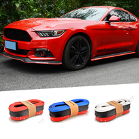 Car Sticker 2.5m Car Protector Front Bumper Lip Splitter Body Kit Spoiler Bumpers for BMW E46 E36 E34 F10 GT I8 Audi A5 A4 A6