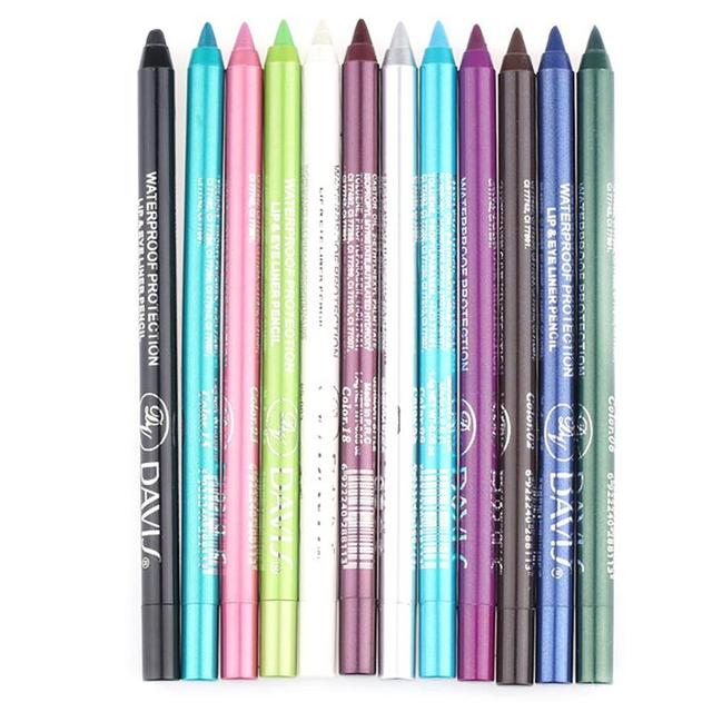 21 Colors Long Lasting Eye Liner Pencil Pigment Waterproof White Color Eyeliner Makeup Crayon Eyeliner Color Eye Shadow Liner