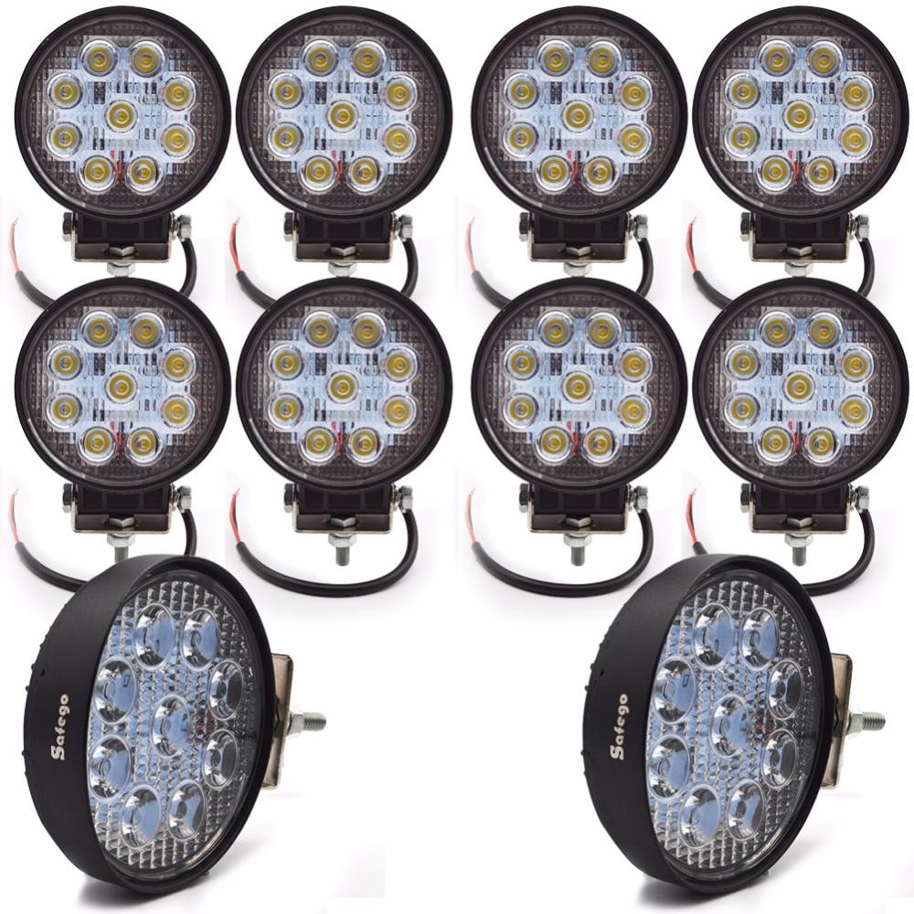 10pcs οδήγησε φως ράβδος 4 ιντσών 12v 24v - Φώτα αυτοκινήτων