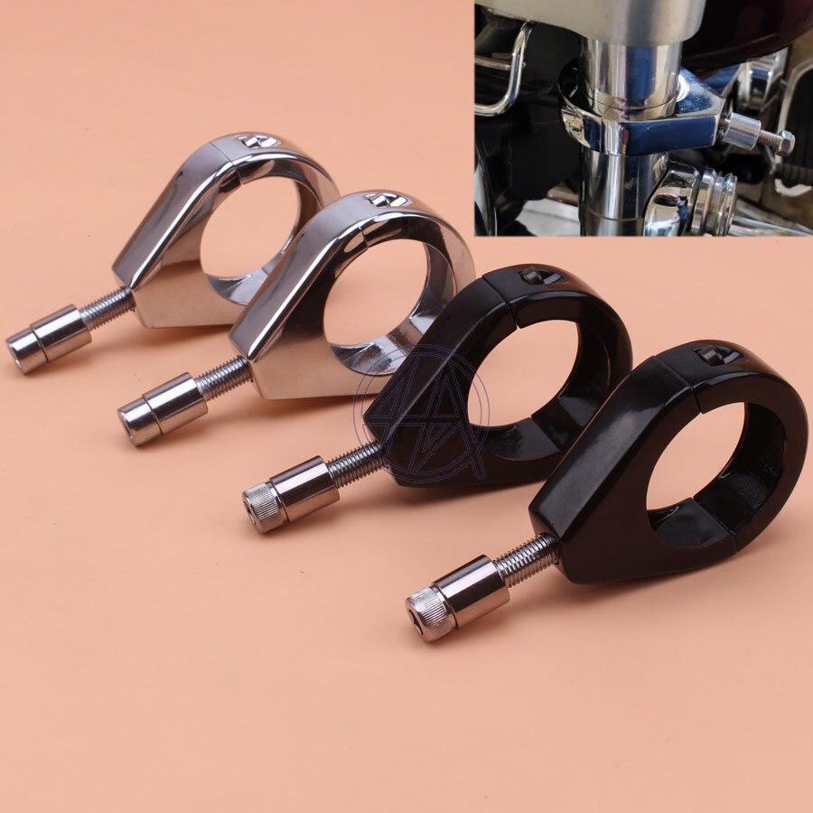 Motorbike Turn Signal Clamps For Harley Softail Mount Bracket 49mm Fork Tube Black