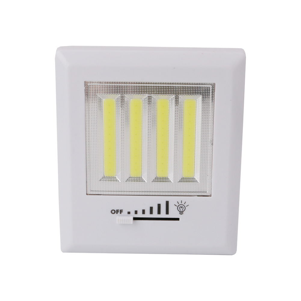 COB Cabinet Wall Light LED Rechargeable Work Light With Slide Switch Lamp Light