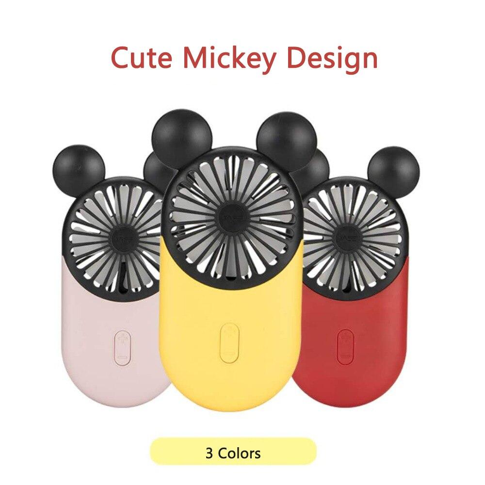 Handheld Mini Fan Cartoon Cute Style Hand-held Desk Fan Cooler Handheld Air Conditioner Cooling Fan Summer Air Conditioner Cooler