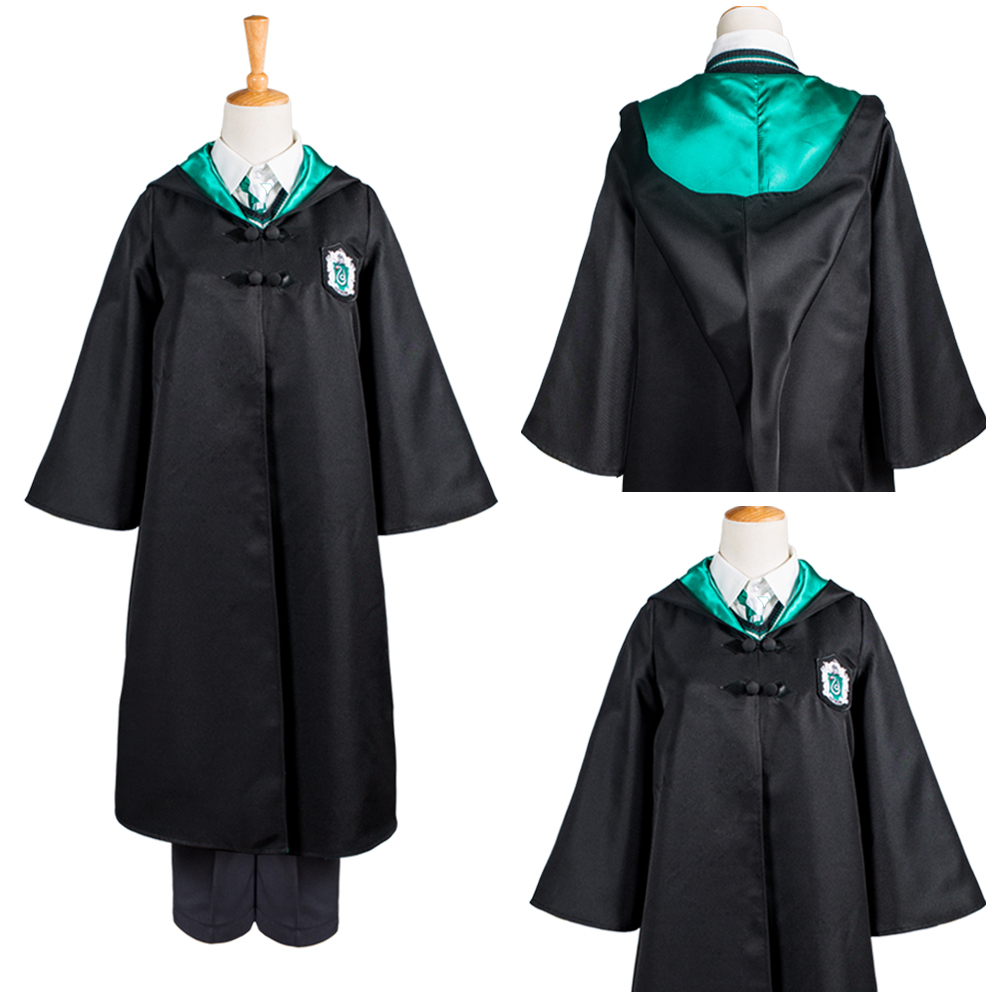 Kids Slytherin School Uniform Draco Malfoy Cosplay Costume For Child Haloowenn Carnival Costumes