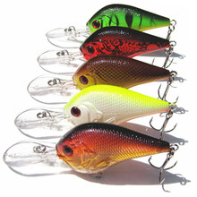 1PCS Fishing Lure Deep Swimming Crankbait 9.5cm11.4g Hard Bait 5 Colors Available Tight Wobble Slow Floating Fishing Tackle L15