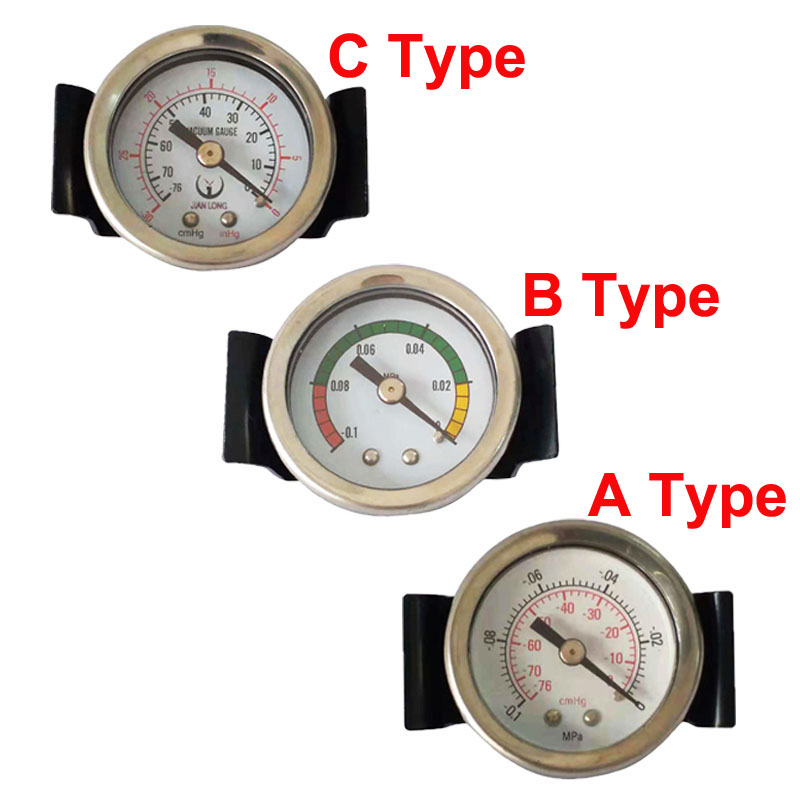 1pcs -76cmhg/-0.1~0Mpa Bracket Vacuum Pressure Gauge 45mm Diametre