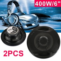 2pcs 6 Inch Reproducer Auto Speakers professional Loudspeaker 2 Way Car Audio Coaxial Car HiFi 400W Stereo