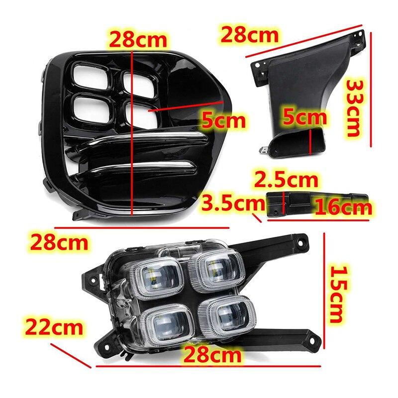 2Pcs Für BMW X4 F26 X5 F15 X5 M F85 X6 F16 X6 M F86 Auto styling Vorderseite LED DRL Nebel Licht Nebel Lampe Montage - 4