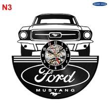 Ford Mustang Handmade Vinyl Record Wall Clock Fun gift Vintage Unique Home decor  Car clocks