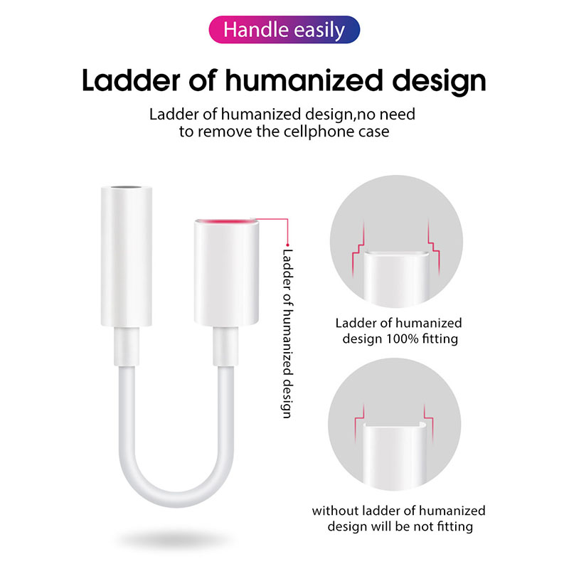 Image 5 - Lamorniea For iPhone X 8 7 Plus Headphone Audio Adapter For lightning to 3.5mm Aux Jack Earphone Bluetooth Converter For iOS 12-in Phone Adapters & Converters from Cellphones & Telecommunications