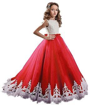 Elegant Lace Flower Girl Dresses Sequined Applique Dresses for Wedding Party vestidos largos de flores