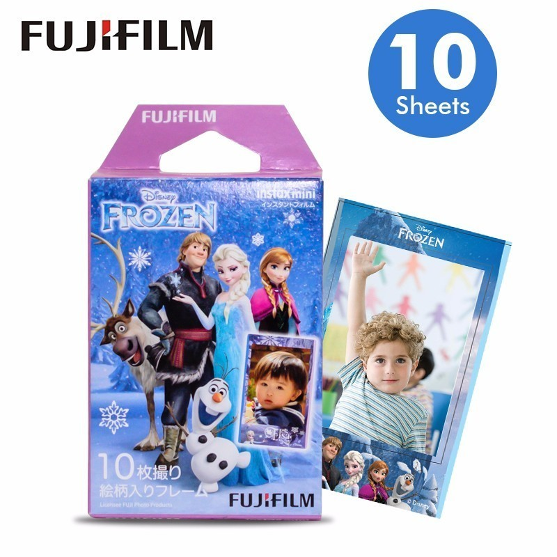 Original Fujifilm Fuji Instax Mini 8 Disnep frozen Film 10 Sheets For 70 50s 7s 90 25 Share SP-1 Instant Cameras New arrive
