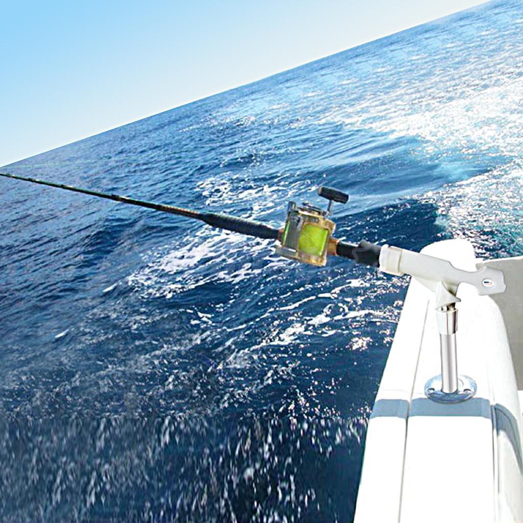 3Pcs Adjustable 360 Degree Rotatable Marine Boat Kayak Canoe Yacht Fishing Rod Holder Mount Pole Rest