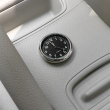 Car Ornament Automotive Clock Auto Watch Automobiles Interior Decoration Stick-On Clock Ornaments Accessories Christmas Gifts
