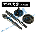 Dual Shock Absorber Gear Box Suite GY6 125 150cc Gear Shaft Set 152QMI 157QMJ Spare Parts YCM Long Shaft