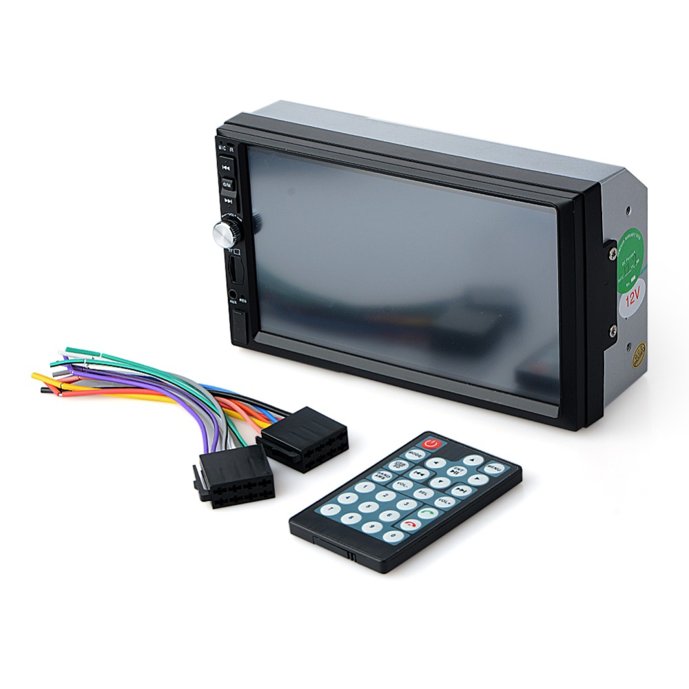 купить Bluetooth Car Radio Player Stereo 12V FM/MP3/Audio /-Charger/ USB/SD/AUX/ Auto Electronics In-Dash Autoradio 2 DIN по цене 2662.1 рублей