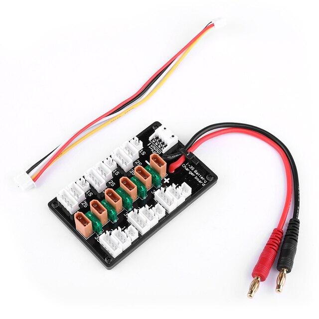 1-3 S XT30 Plug li-po batterie carte de charge parallèle 6 pcs XT30 mâle à JST câbles femelles pour IMAX B6 chargeur RC pièces de batterie 1
