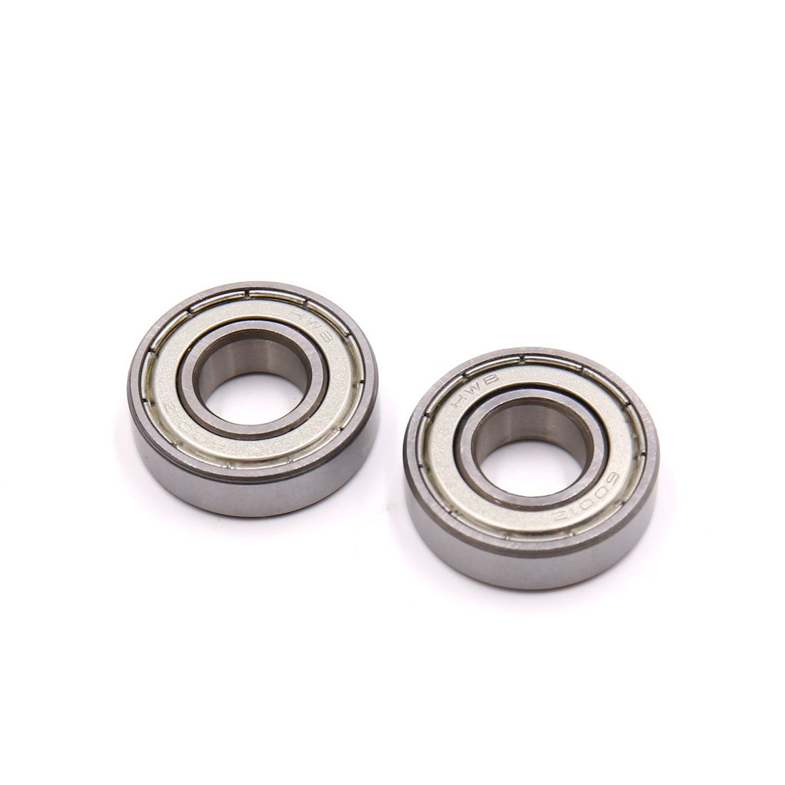 Uxcell 2Pcs 6001Z Stainless Steel Motorcycle Deep Groove Radial Ball Bearing 28 X 12 X 8mm, 2 Pack
