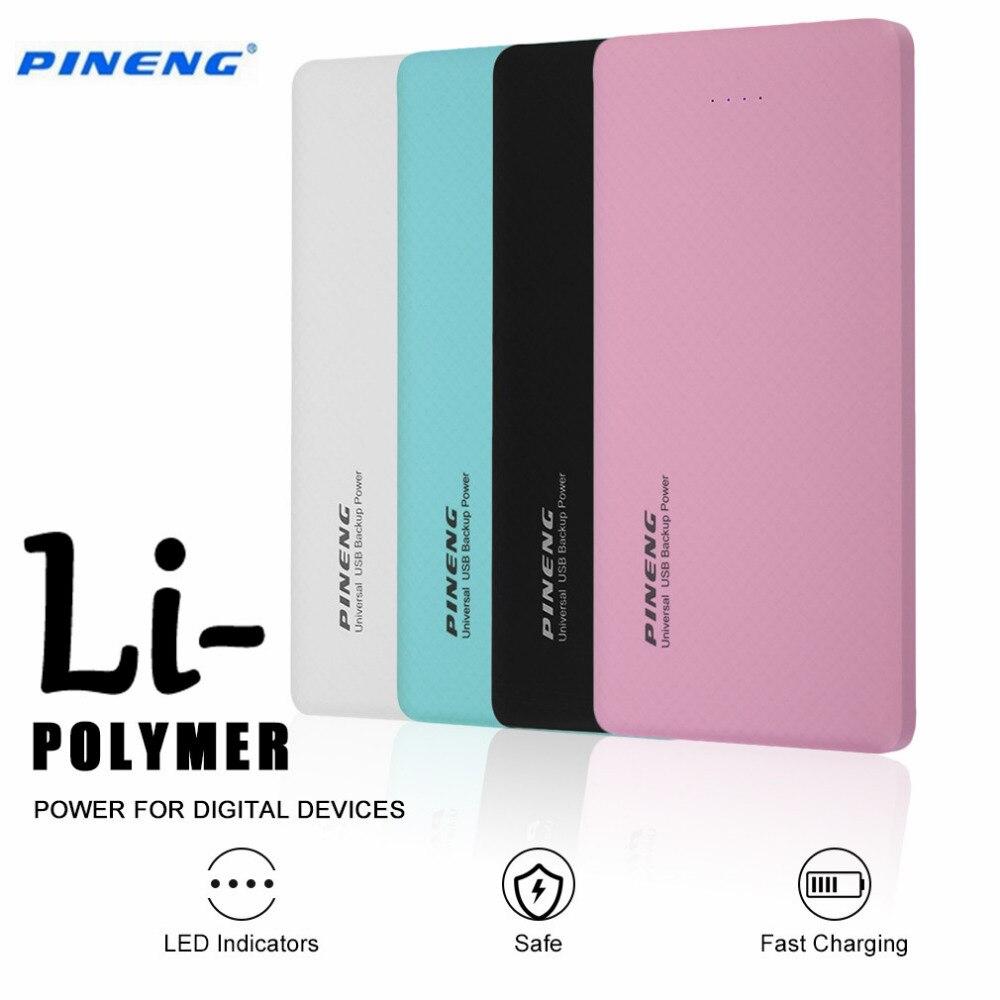 100% original pn-958 pineng 10000 mah usb dual del banco móvil cargador de bater