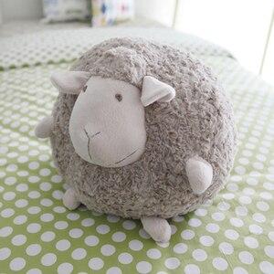 Image 2 - Schönen Weichen Plüsch Fett Schafe Ball Spielzeug Schlafen Schafe Puppe Kissen Kissen Freund Mädchen Geburtstag Geschenk Cartoon Schafe Lamm Puppe plüsch