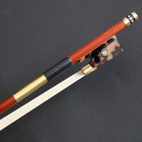 Master Violin Bow Authentic Pernambuco Bow Selected Pure Natural Mongolia Horse Tail with Warm Tone,size 4/4,weght 62g,745mm.