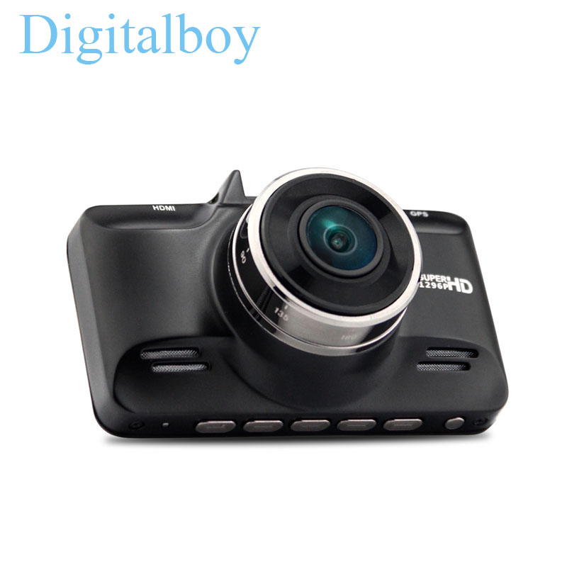 Ambarella Chip Car DVR Camera Video Recorder 2304*1296P FHD 2.7 inch LCD 170 Degree Wide Angles G-sensor GPS logger Dash Cam