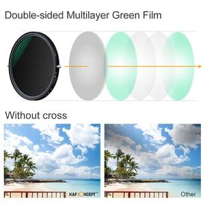 "Image 4 - K & F مفهوم 2in1 Fader متغير ND مرشح + CPL مرشح الاستقطاب الدائري 67 مللي متر 72 مللي متر 77 مللي متر 82 مللي متر NO ""X"" بقعة للتصفية عدسة الكاميرا"