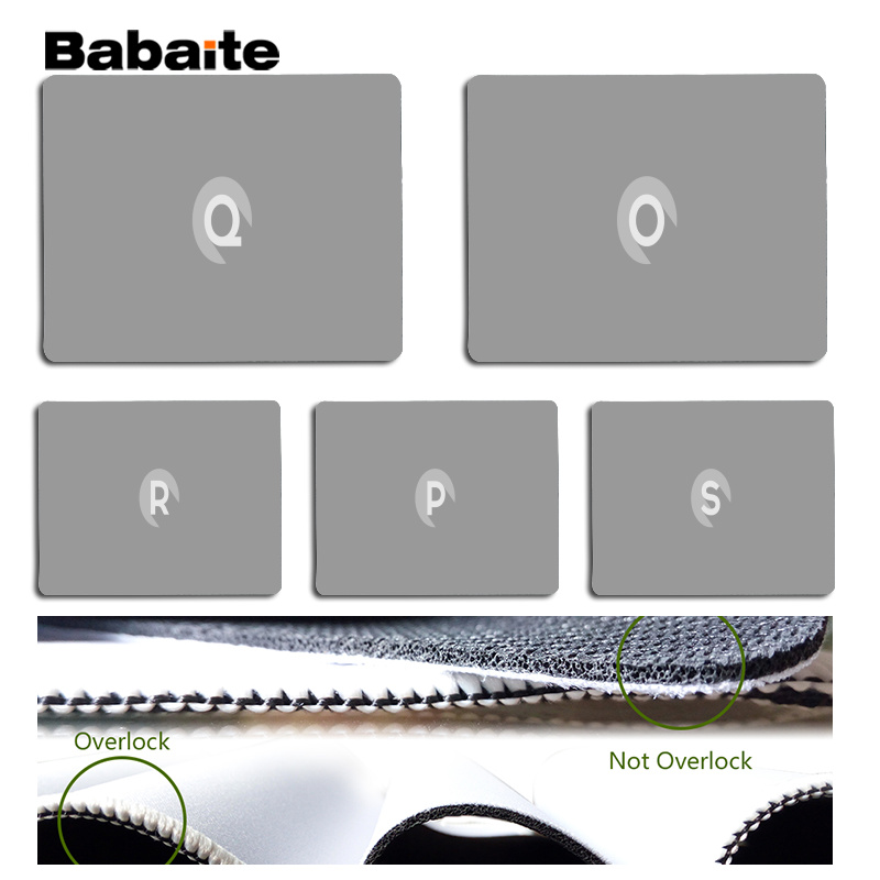 Babaite The letter Large Mouse pad PC Computer mat Size for 25x29cm Gaming Mousepads