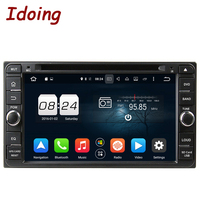 Idoing 2Din Car DVD Player Multimedya Fit Toyota Universal Steering Wheel Android GPS Navigation With Camera