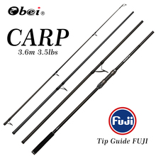 obei carp fishing rod Portable spinning rod 3.60m 3.5lb 40-160g 4sections