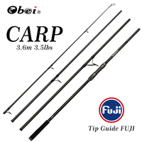 obei carp fishing rod Portable spinning rod 3.60m 3.5lb 40 160g 4sections