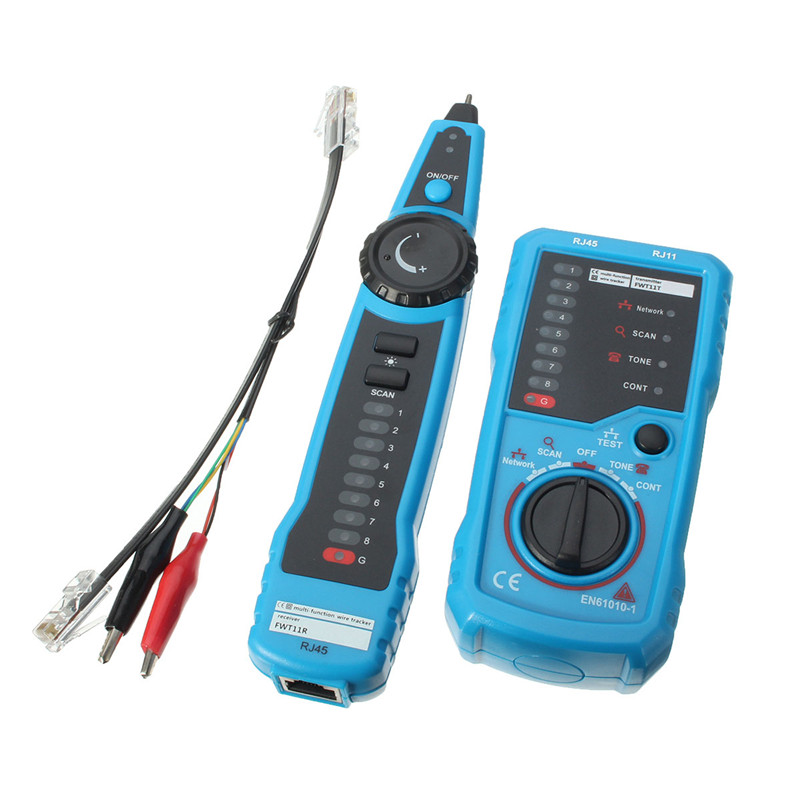 Network Cable Tester : Cat rj telephone wire tracker tracer toner