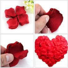 2000 шт./лот 5*5 см шелковые лепестки роз для Свадебные украшения, романтический искусственные лепестки роз Свадебный цветок розы