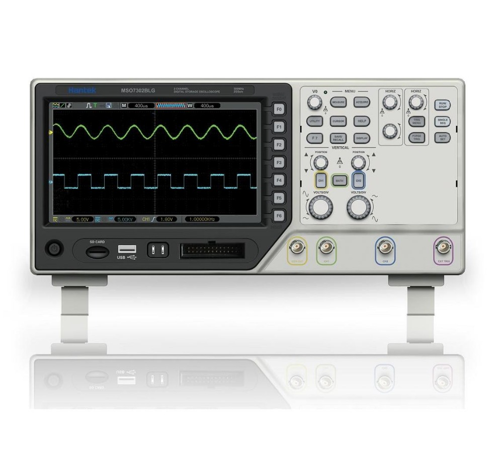 Hantek MSO7302BLG 3 IN 1 Digital Storage Oscilloscope + 25MHz Function signal generator +8CH Logic Analyzer 2CH 2Gsa/s 300MHz  hantek idso1070a 2ch 70mhz digital oscilloscope iphone ipad android windows oscilloscope wifi communication