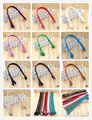 PD-02 multicolor long pattern 57CM simple ear style PU leather handle bag belt DIY Lady Handbag accessories