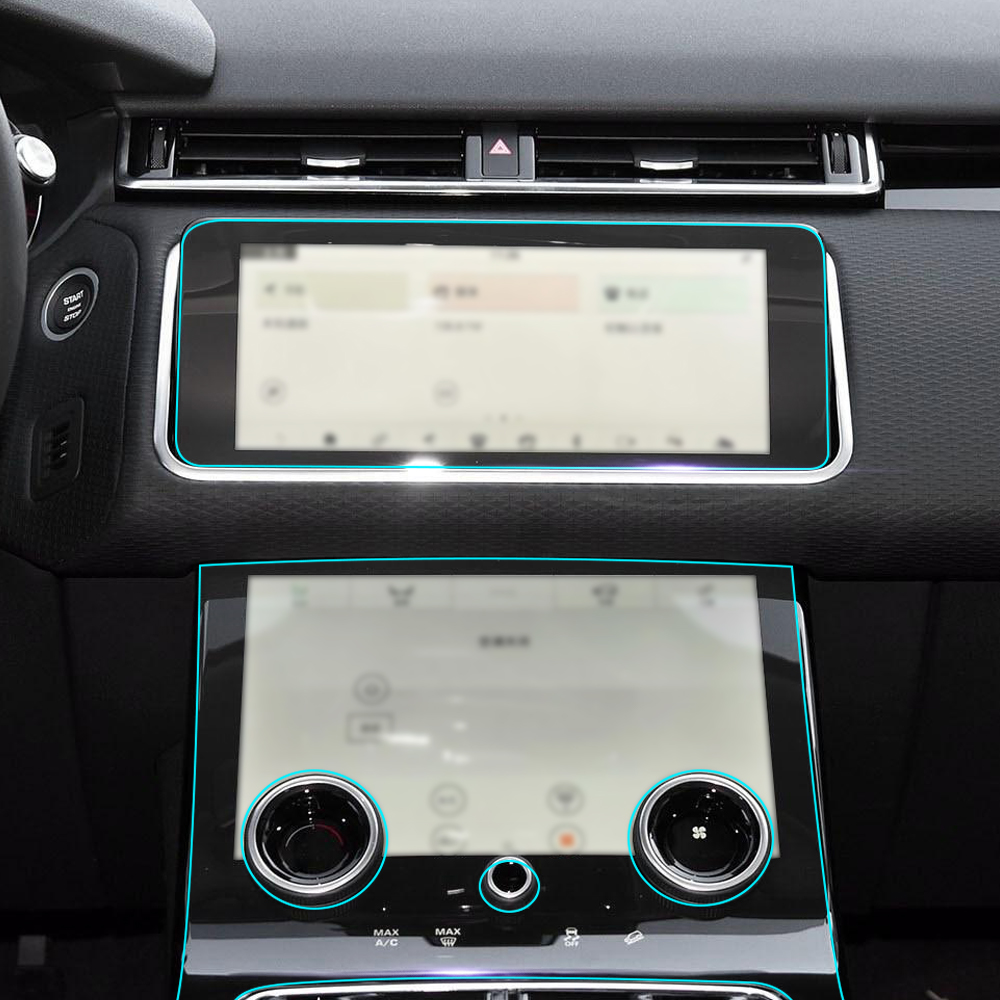 Anti Scratch Clear Car Interior Transparence Film Console Panel Decoration Protective Sticker for Land Rover Range