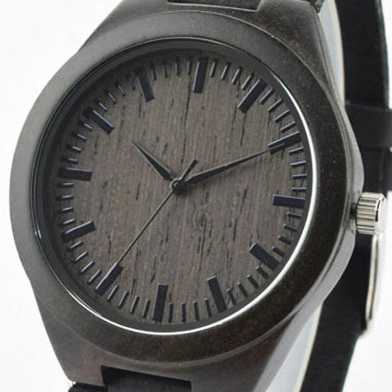 Quartz Wooden Watch font b Men b font Causual Male Gentlemen Classic Leather Wristwatch 2016 Hot