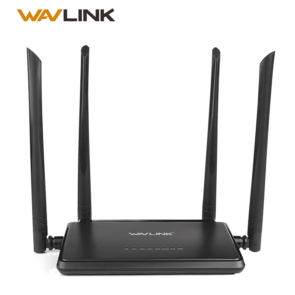Wavlink N300 300 Mbps trådlös Smart Wifi Router Repeater åtkomstpunkt med 4 externa antenner WPS Button IP QoS Speed ​​2 Fast