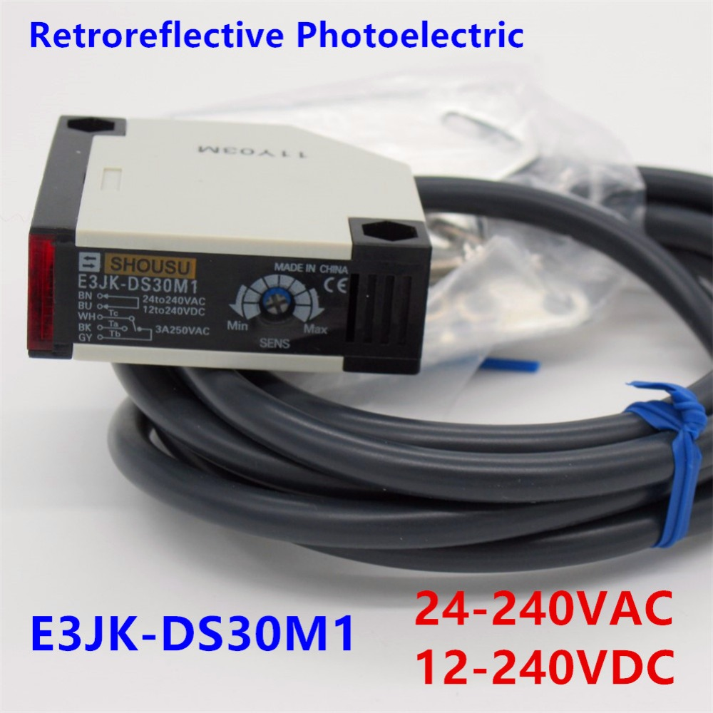 High-quality photoelectric switch E3JK-DS30M1 12-240VDC 24-240VAC Diffuse reflection infrared switch photoelectric sensor reflection