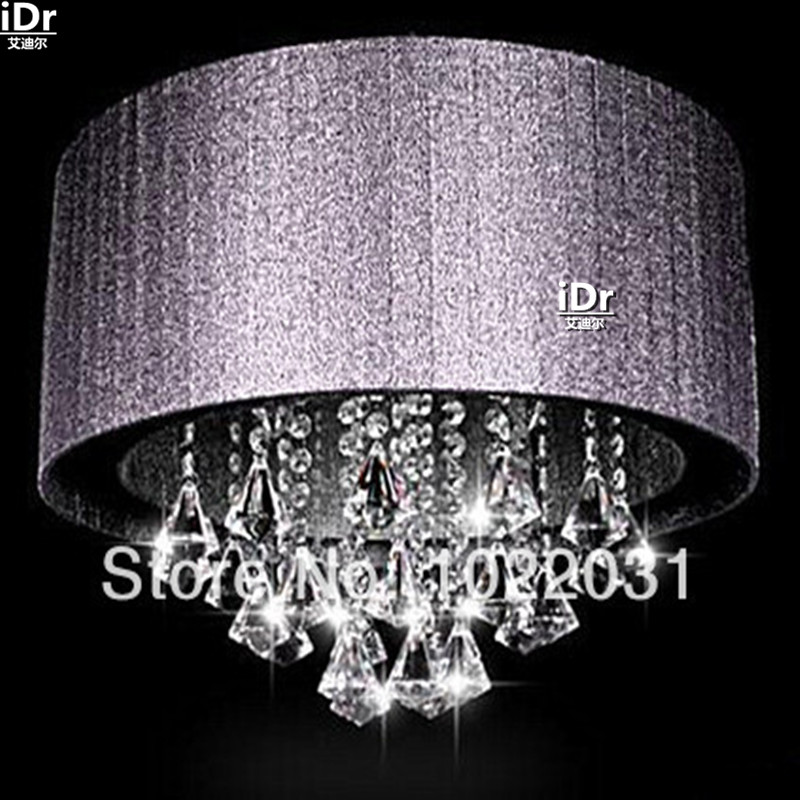 Online Get Cheap Shaded Crystal Chandelier -Aliexpress.com ...:NEW LED Crystal Light shade cloth lamp minimalist chandelier crystal  chandeliers Upscale atmosphere free delivery(,Lighting