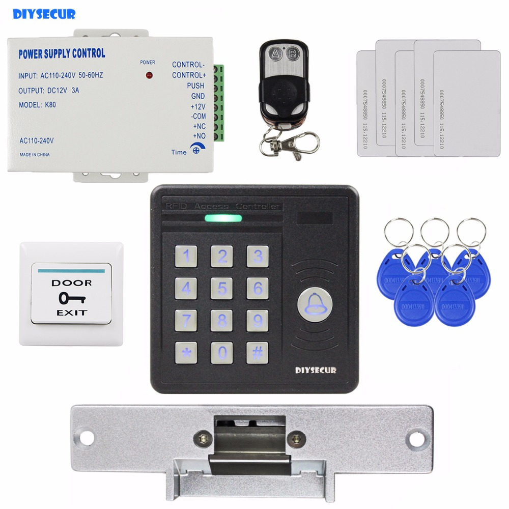 Diysecur Waterproof 125khz Rfid Card Reader Door Bell Button Keypad Access K2000 Wiring Diagram Electric Strike Lock Control Security Kit In Kits From