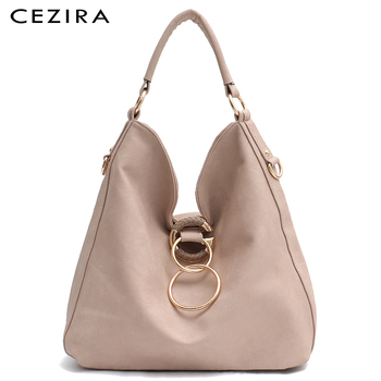 CEZIRA Large Hobo Bags Women Luxury Vegan Leather Shoulder Bags Soft High Quality PU Fashion Casual Ladies Handbags Cross body