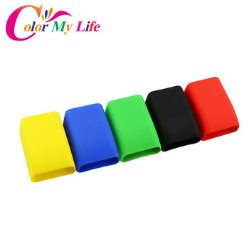Color My Life Rubber Car Seat Belt Clips Locking Buckles Cover for Ford Focus 2 3 4 Fiesta Ecosport Kuga Escape Mondeo Everest image
